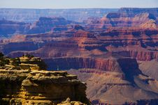 One Photographer In The Grand Canyon Royalty Free Stock Images