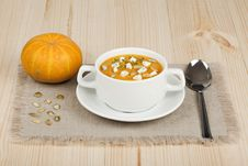 Free Pumpkin Soup Stock Photo - 17092300