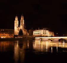 Free Night In Zurich Stock Images - 17092774