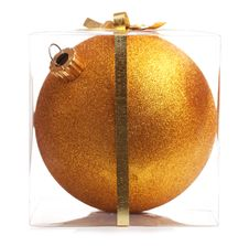 Free Gold Christmas Ball (Isolated) Stock Photos - 17092903