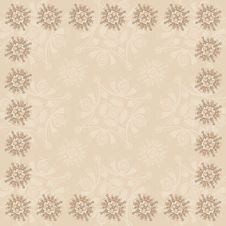 Beige Square Frame Three Royalty Free Stock Images