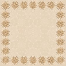 Free Beige Square Frame One Stock Photography - 17093162