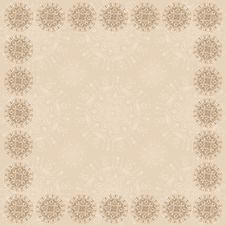 Beige Square Frame Two Royalty Free Stock Image