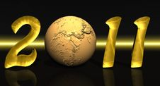 Free Golden 2011 With Earth Stock Image - 17093421