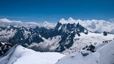 View From The Aiguille Du Midi Royalty Free Stock Image