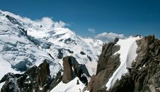 Chamonix France - A View From The Aiguille Du Midi Royalty Free Stock Image