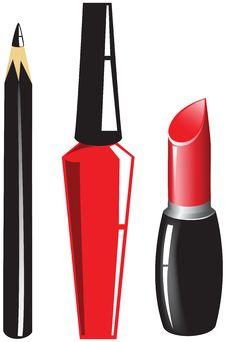 Free Set Of Cosmetics Stock Photography - 17094212