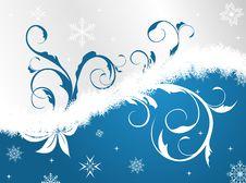 Illustration Floral Christmas Frame Stock Photos