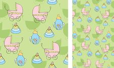 Background With Children S Things Royalty Free Stock Photo