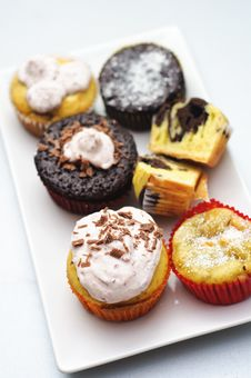 Free Different Muffin And Cupcakes Stock Images - 17095104