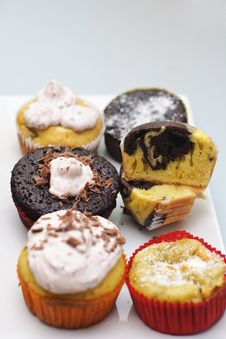 Free Different Muffin And Cupcakes Stock Photography - 17095152