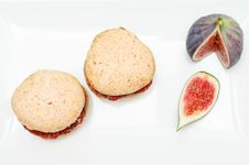 Free Almond And Fig Cookies Stock Photos - 17095493