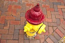 Old Pedestrian Brick Paveway Royalty Free Stock Image