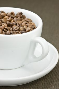Luxury Coffee Beans In A Cup Royalty Free Stock Photography