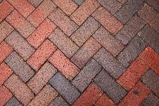 Free Old Pedestrian Brick Paveway Stock Photo - 17095820