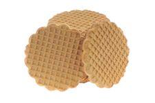 Honey,milk Cookies Isolated Royalty Free Stock Image