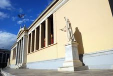 University Of Athens - The Main Building (Greece) Royalty Free Stock Photo