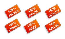 Free Six Red Business Promo Stickers Stock Photo - 17096810