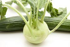 Free Cucumber And Kohlrabi Stock Image - 17096951