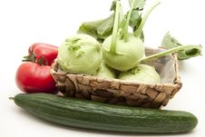 Free Kohlrabi In The Basket Stock Photo - 17097060