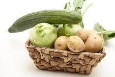 Free Kohlrabi With Potato And Cucumber Stock Photos - 17097083