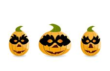 Free Gang Of Pumpkins Dressed In Masks Royalty Free Stock Photography - 17097257