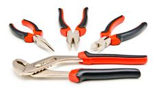 Free Set Of Pliers Stock Image - 17097351