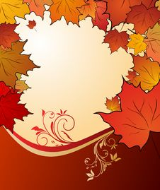 Free Autumn Floral Background Royalty Free Stock Image - 17097356