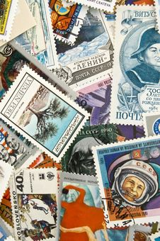 Free The Postage Stampses. Stock Images - 17097394