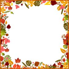 Free Background Autumn Frame Royalty Free Stock Photos - 17097488