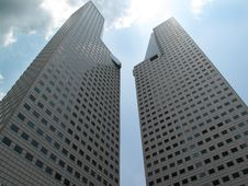 Free Two Tall Buildings Stock Photos - 17097793