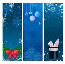 Free Christmas Banners Stock Image - 17098491