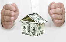 Free Money House And Hands Royalty Free Stock Image - 17098606