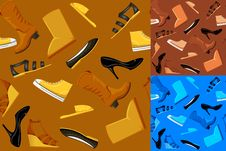 Free Seamless Shoes Pattern Stock Photo - 17098670