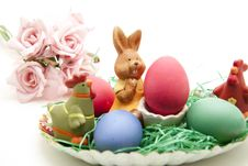Free Easter Bunny With Ernest Royalty Free Stock Photos - 17099678