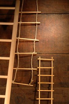 Free Ladders On Wood Stock Photos - 17099733