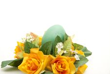 Easter Egg With Flower Royalty Free Stock Photography