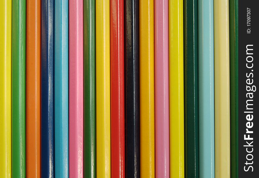 The Set colour pencils.