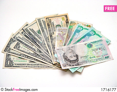Free Miscellaneous Currency Royalty Free Stock Photography - 1716177