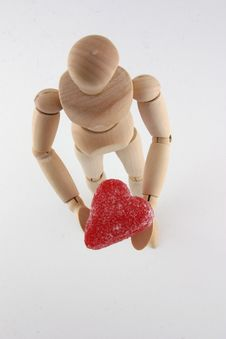 Free Manikin And Valentine Royalty Free Stock Image - 1710386