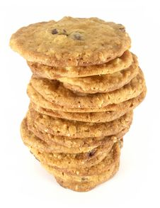 Free Chocolate Chip Cookie Tower 3 Stock Photos - 1710963