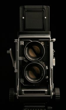 Vintage Camera Front Stock Image