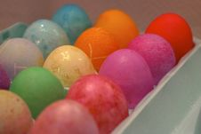 Free Coloring Easter Eggs Royalty Free Stock Photography - 1712037