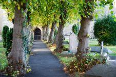 Free Church Path Royalty Free Stock Photo - 1712335
