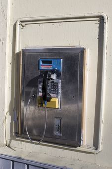 Free Public Phone On Wall Royalty Free Stock Photography - 1714487