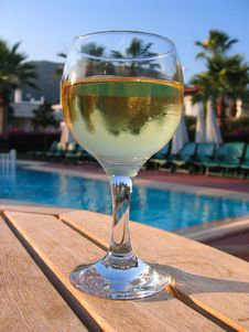 Free Goblet With Wine On Table Stock Images - 1715044
