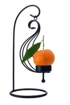 Free Mandarin Orange Scented Candle Stock Photo - 1715130