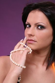 Free Girl With Pearls Stock Images - 1715394