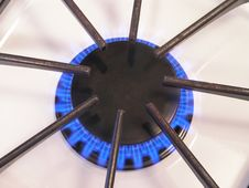 Free Gas Burner Close Up - 1 Stock Images - 1715644