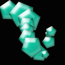 Free Teal Tiles Abstract Royalty Free Stock Photos - 1716398